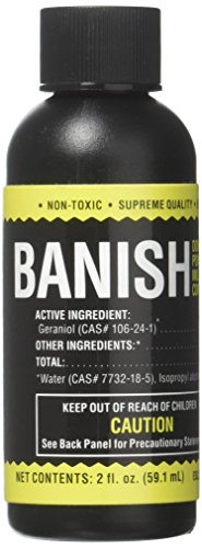 Banish, All Natural Fungicide Downey & Powdery Mildew Control, Manages Pests & Disease, Proprietary Mixture of Powerful Natural Geraniol, Organic Ingredients, 2oz Mixes to 15 Gallons