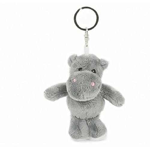 Schlüsselanhänger Flußpferd, aus Plüsch, Tier Tiere, Nilpferd