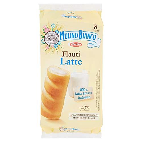 Mulino Bianco Merendine Flauti al Latte, Snack Dolce per la Merenda, 280 gr