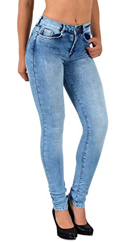 ESRA Jean Femme Skinny High Waist Jeans Femmes Taille Haute Pantalon en Jean déchirés S300