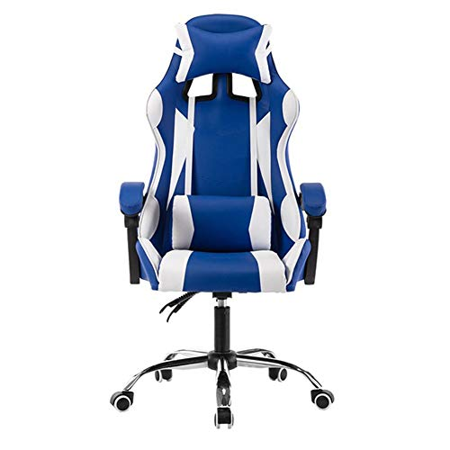 Presidente de juego que compite con computadora de oficina Butaca de juego ergonomico respaldo y el asiento de ajuste de altura reclinable giratorio Rocker con reposacabezas y almohada lumbar E-Sports
