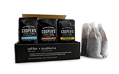 Cold Brew Coffee Box Set - Colombian, Peruvian, Guatemalan Ground Coarse for Cold Brew - 6 Filter Bags Included - 1.5 lbs