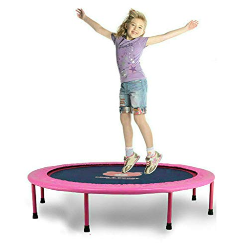 Jumping Mat Rebounder Bouncer Trampoline Foldable Fitness Exercise Bouncer Lean Aerobic Sport Jumping Bed Outdoor and Indoor Use Gym Weight Loss Elasticity Lose Slimming Padded Frame Cover