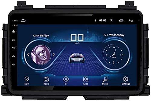 MIVPD Compatible para Honda Vezel/XRV 2014-2018 Sat Nav Android 9.0 Unidad De Cabeza FM Radio Receptor Auto Audio Player MP5 Coche Estéreo 9 Pulgadas Pantalla Táctil Navegación GPS,4 Core WiFi 1+16GB