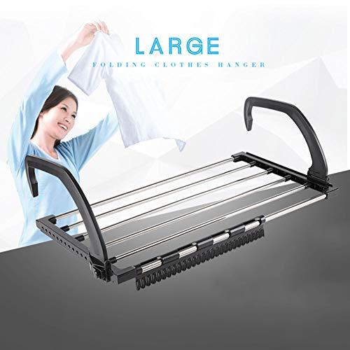 rethyrel Tendedero extensible para radiador de acero inoxidable con clip de calcetín...