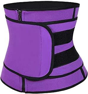 Women Body Shaper Waist Cincher Corset Sport Slimming Vest with Girdle Belly Belt Female Modeling Strap for Weight Loss - Purple S