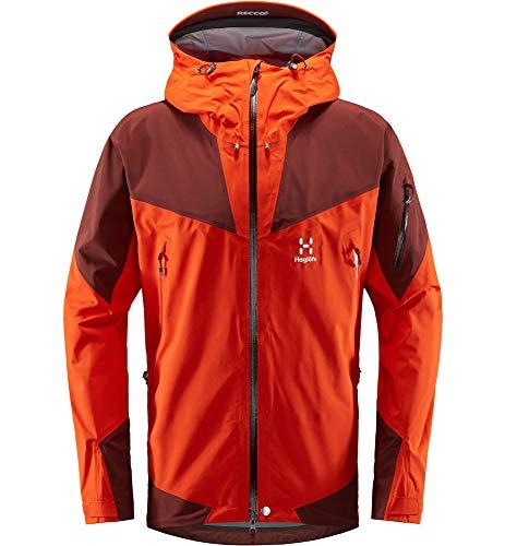Haglöfs Hardshelljacke Herren ROC Spire Jacket wasserdicht, Winddicht, atmungsaktiv, Habanero/Maroon Red M M