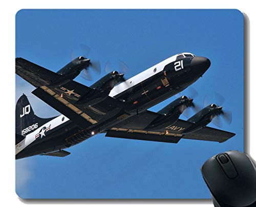 Mousepad Anti-Slip Mouse Pad,Military Lockheed P 3 Orion Mouse Pad for Office Desktop or Gaming Mouse Mat