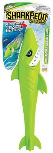 Prime Time Toys Diving Masters Sharkpedo Shark pool Underwater Glider Toy torpedo Green