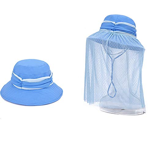 KNBCOP Mosquito Head Net Mesh/Net Hat/para Hombre/con Escudo De Insectos/Safari Hat/Sea To Summit/Mesh/Netting/Mosquito Head Net Net Net/para Mujer/Mosquito,Blue1