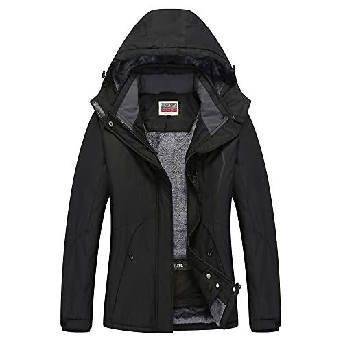 WULFUL Women's Waterproof Snow Ski Jacket Mountain Windproof Winter Coat with detachable hood