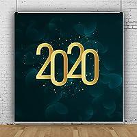 Qinunipoto 2020 happy new year 背景布 写真撮影用 写真の背景 新年背景 新年を迎えて ロマンチックな夢の背景 おとぎ話背景幕 背景幕 撮影用 子供用 新生幼児用 スタジオのプロ背景幕 ビニール 1.8x1.8m
