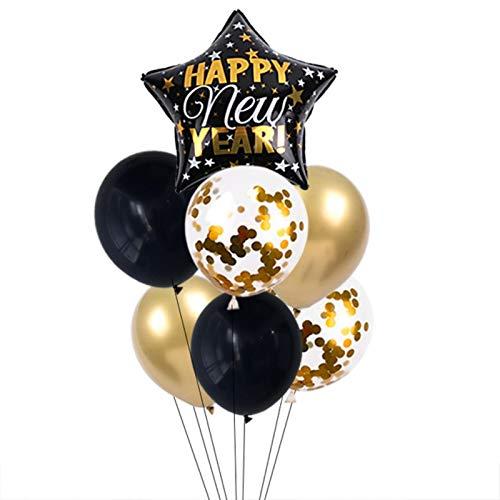 Decoración De Papel Partido Feliz Año Nuevo Globos Decoración Botella De Vino Globos De Papel De Aluminio Decoraciones Navideñas Para El Hogar Suministros De Fiesta De Nochevieja