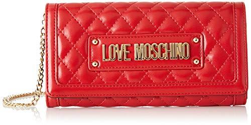 Love Moschino Unisex-Erwachsene Jc5601pp18la0500 Geldbeutel, Rot (Rosso), 9x3x19 centimeters