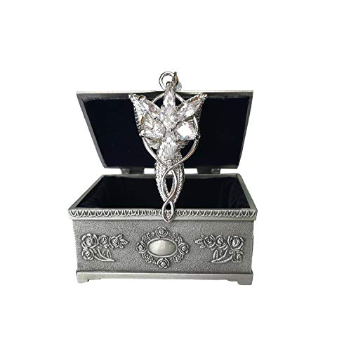 Arwen Evenstar Silver Pendant Necklace with Jewelry Box Women,Girls