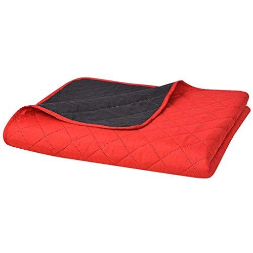 ghuanton tweezijdig quilten sprei rood / zwart 220x240cm huis & tuin bed- en huishoudlinnen dekbedden en quilts