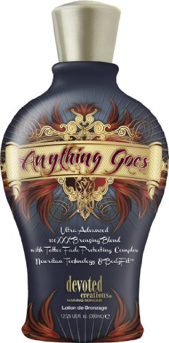 Devoted Creations ANYTHING GOES Bronzer Tanning Lotion 12.25 oz. by Devoted Creations