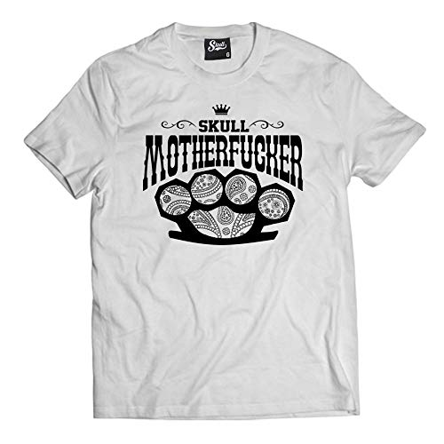 Camiseta Motherfucker Bandana (M, Branco)