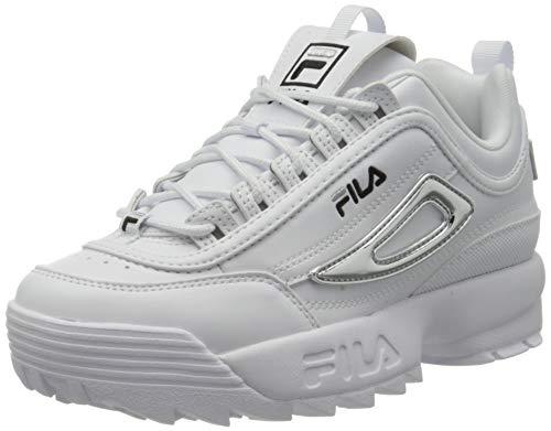 FILA Disruptor M wmn Sneaker Donna, Bianco (White/Silver), 39 EU
