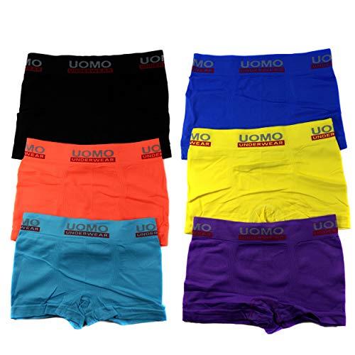 HighClassStyle Premium Boxershorts 6er Pack - Hochwertige Kinder Unterhosen - Optimaler Mikrofaser Shorts für Jungen - Farbenvielfalt - Größe 128-146 (10-12) A.4100