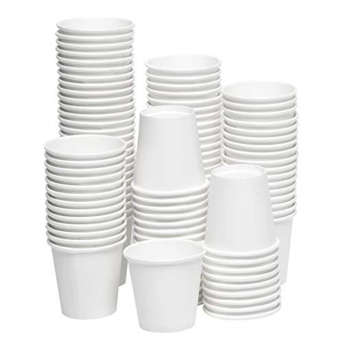 [2 oz, 200-Count, White] Papernain Paper Disposable Bath Cups, Mouthwash Cups