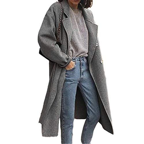 qulvyushangmaobu Chaqueta De Invierno para Mujer Casual Outwear Parka Cardigan Slim Coat Overcoat Invierno Abrigo Mujer Gabardina Casual Abrigo Largo Manga Larga Chaquetas Mezcla de Lana Abrigo