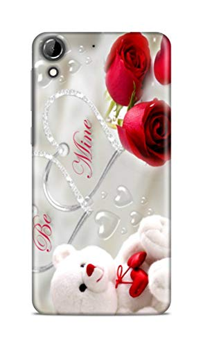 Shengshou Mobile Back Cover for HTC Desire 728 Design Teddy Bear Rose ABC254T31741
