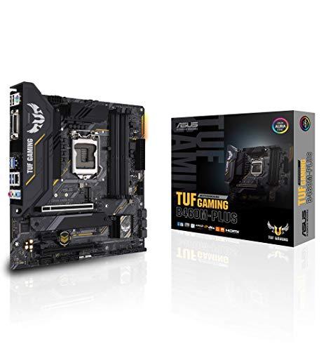 ASUS TUF Gaming B460M-PLUS Mainboard Sockel 1200 (Mikro ATX, 8 Leistungsstufen, HDMI, DisplayPort, SATA 6Gbit/s, USB-3.2-Gen-1-Anschluss, Aura-Sync)