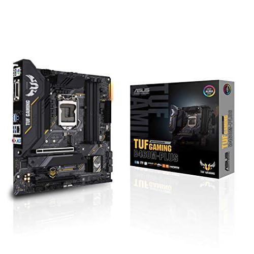 Asus TUF GAMING B460M-PLUS, Scheda madre Gaming Intel B460 (LGA 1200) micro ATX con doppio M.2, 8 fasi di alimentazione, HDMI, DisplayPort, SATA 6Gbps, porta USB 3.2 Gen 1, Aura Sync RGB