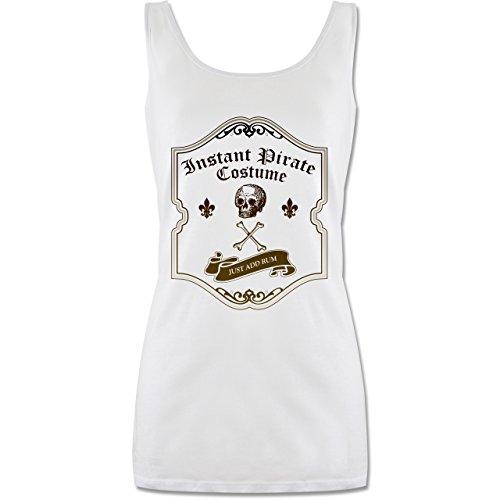 Shirtracer Karneval & Fasching - Instant Pirate Costume - Just add Rum - S - Weiß - Schnaps - P72 - Tanktop für Damen und Frauen Tops