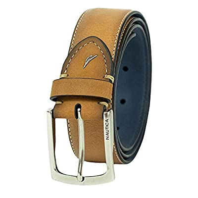 Nautica Men's Two-tone Casual Belt,Tan,34