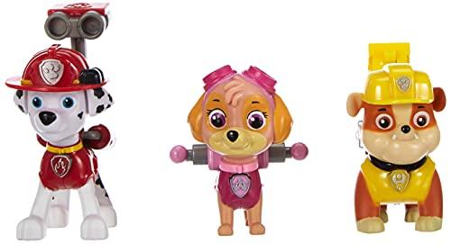 PAW PATROL – Action Pack Pup Set – Marshall, Rubble & Skye – 3 Figuras Acción La Patrulla Canina
