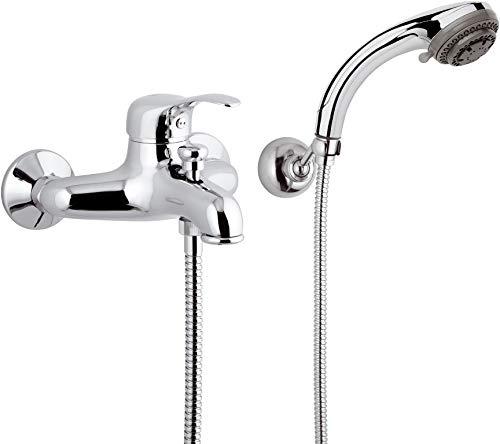Miscelatore vasca MUSA M02 con doccetta e supporto - rubinetterie REMER