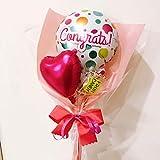 ミニメッセージキャンディバルーンブーケ Congratulations pink 全19種類