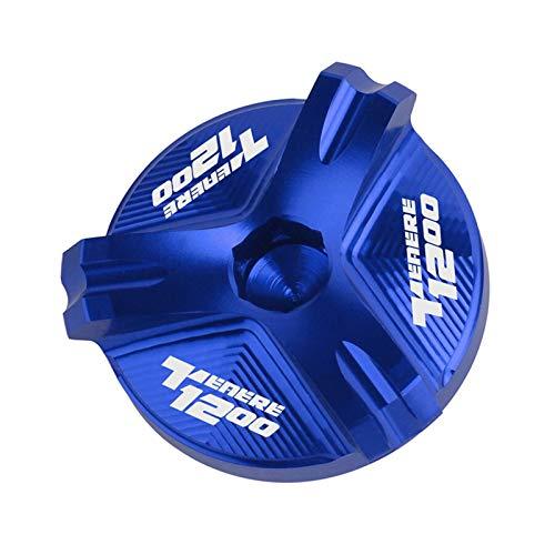 VSKTE Adatta per Yamaha Super Tenere Tenere1200 Tenere 1200 XT1200Z XR1200ZE 2010-2019 2020 Cappuccio del Motore di riempimento dell'olio del Motociclo .Accessori (Color : Blue)
