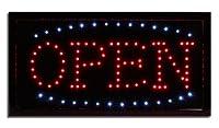 ブラックLED Open Sign明るいちらつきネオンLightedビジネスウィンドウ表示–Big 19インチワイド