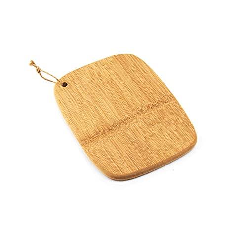 Dabeigouzzhenbb Tabla Cortar Tabla de Cortar de bambú de Corte para Cocina y Restaurante con cordón Colgante (25 * 17.5 cm)