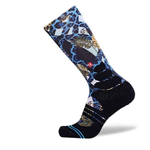 HaiDean Calcetines De Baloncesto Para Hombre Hombre Casual Para Moda Modernas Personalizable Hip Hop Calcetines Deportivos Cómodos Y Transpirables 1 Par Color 01 M (Color : 5, Size : L)