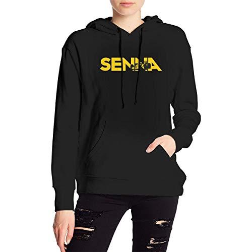 KOMOBB Sudadera con Capucha para Mujer de Ayrton Senna Sudadera Unisex con Capucha para Adolescentes