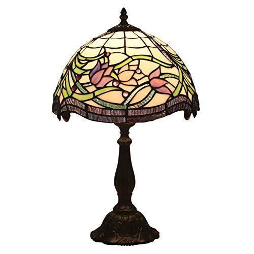 TAID Vintage Tischlampe mit Blumenmuster - Harzbasis H