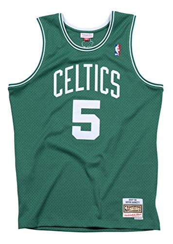 Mitchell & Ness Boston Celtics Kevin Garnett 2007 Road Swingman Jersey, Medium, Verde