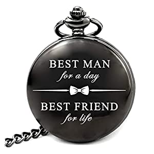 LEVONTA Father of The Groom Gifts for Wedding, Best Man Gifts, Father of The Bride Gifts, Groomsmen Gifts Pocket Watch