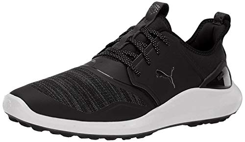 Puma Golf Men's Ignite Nxt Lace Golf Shoe, Puma Black-Puma Silver-Puma White, 11 M US