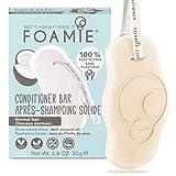 Foamie Acondicionador pelo sólido para cabellos grasos - Coco acondicionador antiestático para evitar el encrespamiento I Proteínas de trigo y aceite de coco 80 g