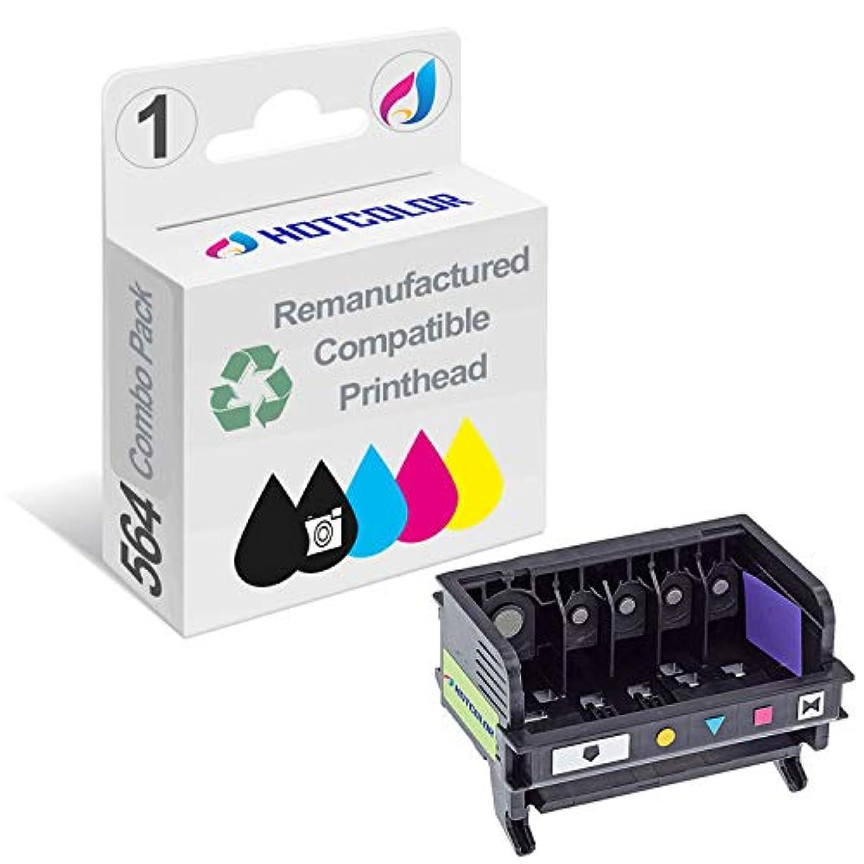 HOTCOLOR 5 - Slot 564 printhead for HP 564 564XL PhotoSmart D5445 D5460 C6340 C6350 C6380 7510 7520 7515 7525 Printer 1Pack