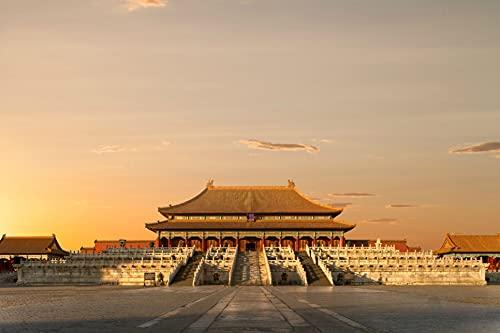 Rompecabezas Puzzle 1000 Piezas-Ciudad Prohibida, Beijing, China-Rompecabezas Grandes Educativo El Alivio del Estrés para Adultos Niños-50x75cm