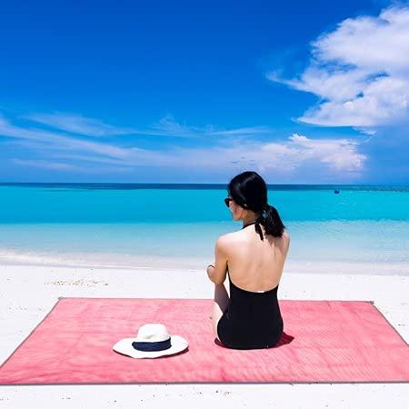 Bahama Esterilla de Playa Antiarena, Manta de Picnic Impermeable como Accesorios de...