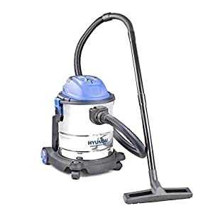 Hyundai HYVI2012 1200 Watt 3 In 1 Multi Purpose 20 Litre Wet & Dry Plus Blower Electric Vacuum Cleaner, Stainless Steel Tank, Bagged Or Bagless Options, Blue, Silver