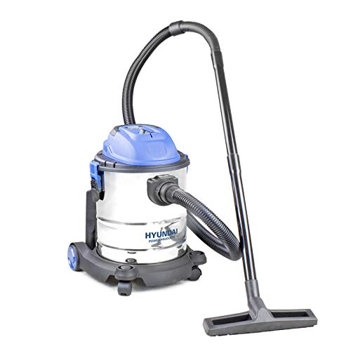 Hyundai HYVI2512 1200 Watt 3 in 1 Multi Purpose 25 Litre Wet & Dry, Huge 16KPA Suction, Plus Blower Electric Vacuum Cleaner, Stainless Steel Tank, Bag-Less Options, Blue, Silver, 20