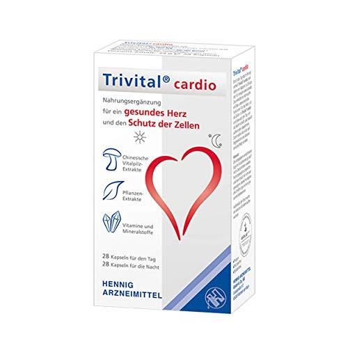 TRIVITAL cardio: Für ein gesundes Herz und den Schutz der Zellen, vegan, lactosefrei, glutenfrei, 56 Kapseln